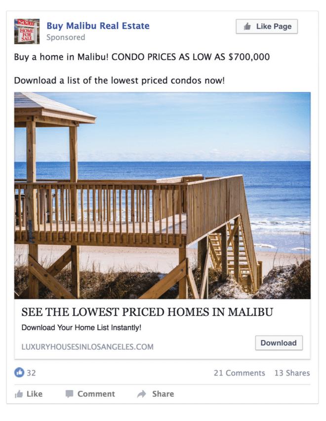 Publicidad para bienes raíces que venden más propiedades 3